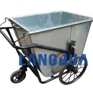 xe gom rác 400l inox của làng rùa