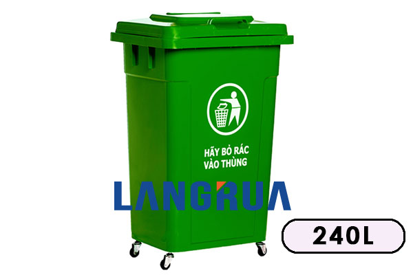 Thùng Rác Nhựa 60l, 90l, 120l, 240l giá rẻ