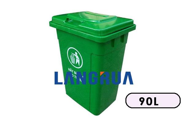 thùng rác nhựa 90l nắp ngoài